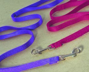 Hamilton Pet - Single Thick Nylon Lead with Swivel and Snap - Purple - 0.38 Inch x 4 Feet