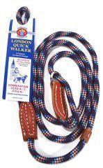 Hamilton Leather - Leather Quick Walker Leash Collar - Purple - 0.38 x 6 Inch