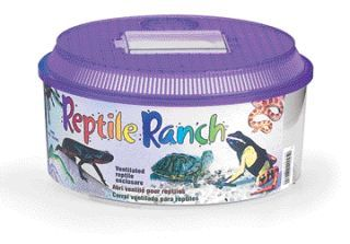 Lee's Aquarium And Pet - Reptile Ranch Round With Lid