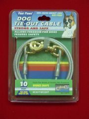 Four Paws - Heavy Tie Out Cable - Silver - 10 Feet