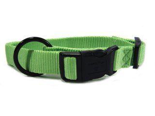 Hamilton Pet - Adjustable Nylon Dog Collar - Lime - 1 x 18-26 Inch