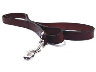 Hamilton Leather - Heavy Leather Lead - Burgundy - 1 Inch x 6 Feet