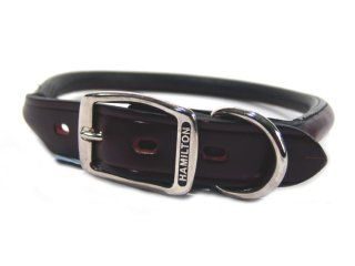 Hamilton Leather - Rolled Leather Collar - Burgundy - 1 x 24 Inch