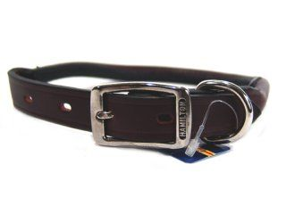 Hamilton Leather - Rolled Leather Collar - Burgundy - 3/4 x 20 Inch