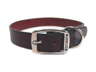 Hamilton Leather - Creased Leather Collar - Burgundy - 1 x 26 Inch