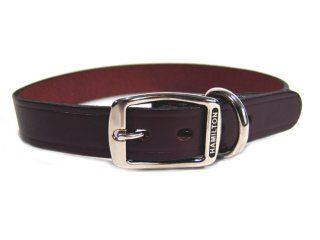 Hamilton Leather - Creased Leather Collar - Burgundy - 1 x 24 Inch