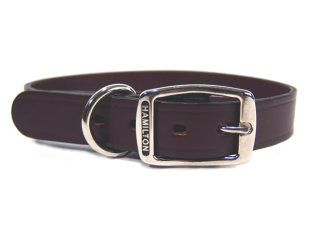 Hamilton Leather - Creased Leather Collar - Burgundy - 22 Inch