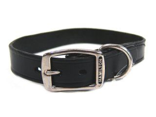 Hamilton Leather - Creased Leather Collar - Black - 24 Inch