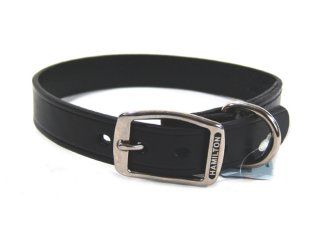 Hamilton Leather - Creased Leather Collar - Black - 1 x 22 Inch