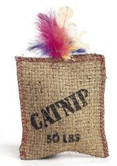 Ethical Cat - Jute and Feather Sack with Catnip