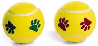 Ethical Dog - Pawprint Tennis Ball - 2 per pack
