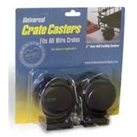 Midwest Container - Dog Crate Casters - Black - 2 Pack