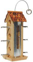 Perky Pet - Tin Jay Wood Feeder - 2 Lb