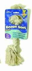 Booda - 2 Knot Rope Bone Dog Toy - White - Extra Small