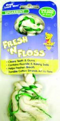Booda - Fresh-N-Floss 2-Knot Rope Bone Dog Toy - Spearmint