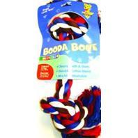 Booda - 2 Knot Rope Bone Dog Toy - Multi Colored - XX Large