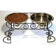 Ethical Dishes - Scroll Work Double Diner - Stainless Steel - 3 Quart