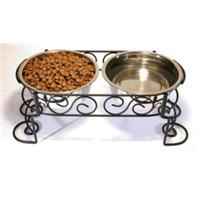 Ethical Dishes - Scroll Work Double Dinner - Stainless Steel - 2 Quart
