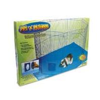 Super Pet - Small Animal Pet-N-Play Pen - Blue - Large
