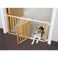 Four Paws - Walk-Over Wood Gate with Door - 18 Inch