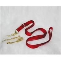 Hamilton Halter - Single Thick Lead Nylon with Chain and Snap - Red - 7 Feet