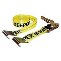 Keeper Corporation - Flat Hook Ratchet Tie Down - Yellow - 27 Feet