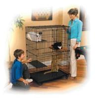 Midwest Container - Cat Playpen - Black