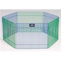 Midwest Container - 6 Panel Small Animal Play Pen - 15 h x 19 w