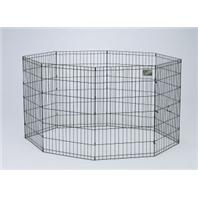 Midwest Container - 8 Panel Exercise Pen - Black - 24 x 42 Inch