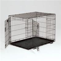 Midwest Container - Life Stages Double Door Crate with panel  - 42 x 28 x 31 Inch