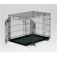Midwest Container - Life Stages Double Door Crate with Panel - 36 x 24 x 27 Inch
