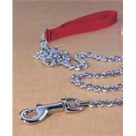 Hamilton Pet - Steel Chain Lead with Nylon Handle Heavy - 4 Feet
