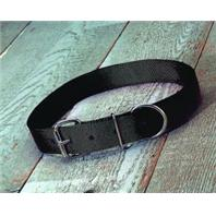 Hamilton Halter - Double Thick Large Cow Collar - Black - 1 3/4 x 44 Inch - Large