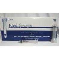 Ideal Instruments - Disposable Luer Lock Syringe Hp - 80 per Box - 12 ml