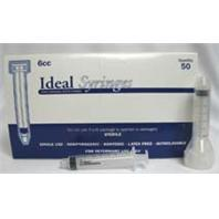 Ideal Instruments - Disposable Luer Lock Syringe Hp - 50 Per Box - 6 ml
