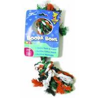 Booda - 2 Knot Rope Dog Bone - Multi Colored - Medium