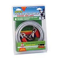 Four Paws - Super Tie Out Cable - Silver - 20 Feet