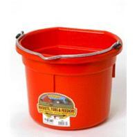 Miller Mfg - Flat Back Plastic Bucket - Red - 8 Quart
