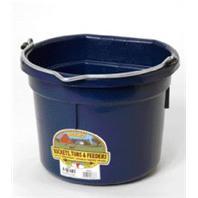 Miller Mfg - Flat Back Plastic Bucket - Navy - 8 Quart