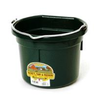 Miller Mfg - Flat Back Plastic Bucket - Green - 8 Quart