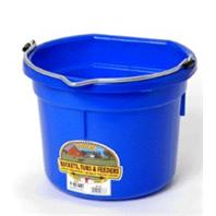 Miller Mfg - Flat Back Plastic Bucket - Blue - 8 Quart