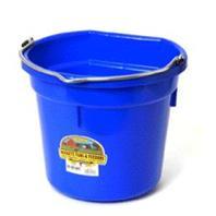 Miller Mfg - P20b Flat Back Plastic Bucket -  Blue - 20 Quart