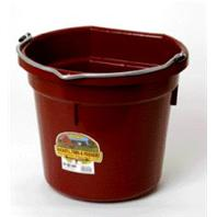 Miller Mfg - P20b Flat Back Plastic Bucket - Burgundy - 20 Quart