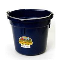 Miller Mfg - P20b Flat Back Plastic Bucket - Navy - 20 Quart