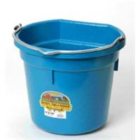Miller Mfg - Flat Back Plastic Bucket - Teal - 20 Quart