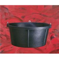 Fortex Industries - Rubber Tub - Black - 6.5 Gallon