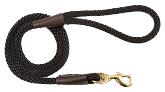 Mendota Pet - Snap Leash - Black - 1/2 Inch x 4 Feet