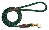 Mendota Pet - Snap Leash - Hunter Green - 1/2 Inch x 4 Feet
