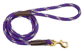Mendota Pet - Snap Leash - Purple Confetti - 1/2 Inch x 4 Feet