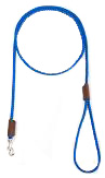 Mendota Pet - British Show Snap Leash - Blue - 1/8 Inch x 4 Feet
